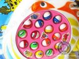 批发电动亲子钓鱼板 益智音乐转动钓鱼盘游戏玩具 15条鱼 三颜色