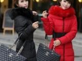 2014【伙拼】爆款大毛领宽腰带女式库存清货棉衣大码女装羽绒棉