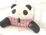 可爱微笑格子情侣小熊猫 腰枕腰垫 两种表情可选 单个价