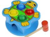 批发 动物敲球台 儿童敲击敲打台早教木制益智宝宝动手打地鼠玩具