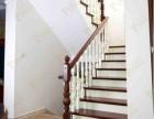高档柚木定制楼梯 品家整木家装厂定制 经典混搭实木楼梯设计