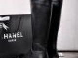欧洲站 高端真皮女靴 大牌同款 高筒靴 骑士靴 厚底秋冬新款长靴
