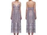 欧洲站女装 欧美2015夏季性感吊带蕾丝连衣裙 外贸订制长裙MX