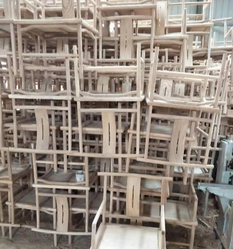 新中式餐椅老榆木餐椅茶椅免漆榆木太师椅弯背椅