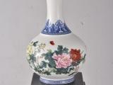 国色天香花瓶 陶瓷工艺摆件 景德镇仿古创意牡丹瓷礼品一件起批