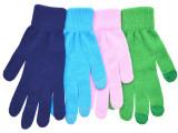热销人造全棉保暖单色手套/可加工点塑/胶印/促销礼品
