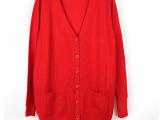 外贸原单剪标加大码中长款开衫女装百搭针织外套女春秋针织衫开衫