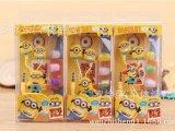 现货供应日本卡通动漫 神偷奶爸小黄人 耳机 入耳式耳机 手机耳机