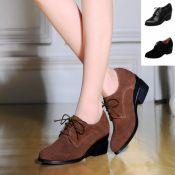 厂家直销2014新款真皮单鞋坡跟鞋深口鞋细带女鞋牛皮高跟鞋爆款批
