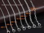 不锈钢十字项链男 钛钢圆圈链环环相扣链