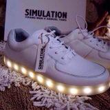 欧美高档14新品发光鞋夜光鞋球鞋发光球鞋USB充电情侣男女休闲鞋