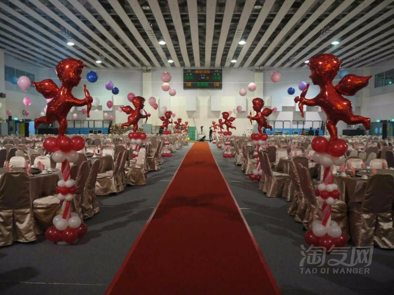 厦门婚礼庆典现场布置,气球布置,
