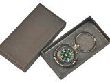 乡村物语高档长条型黑色小礼品盒钥匙扣钥匙链专用盒子小