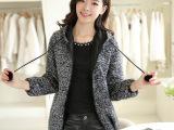 2014女装毛呢外套女秋冬中长款呢子韩版修身羊毛呢大衣