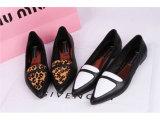 外贸女鞋尖头品牌真皮女鞋欧洲站单鞋平底鞋英伦平跟单鞋