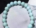 原矿高瓷绿松石圆珠单圈,厂家直销