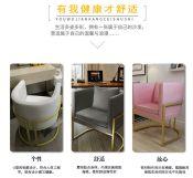 北欧单人沙发椅简约现代休闲椅客厅会客咖啡椅创意时尚金属围椅
