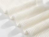 柯桥厂家直销 锦氨纶网眼布服装用布白色可选精梳针织面料