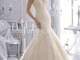 定做加工欧美鱼尾婚纱 厂家批发零售各类婚纱礼服短裙演出服饰