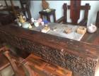 老船木家具天然海螺孔龙骨茶桌椅组合船木茶台
