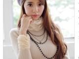 【爆款女装】秋冬新款修身长款针织衫 女式针织衫厂家直销批发
