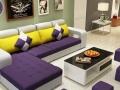 佳尚唯美 简约现代布艺沙发贵妃组合 客厅可拆洗宜家沙发