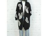 MO&CO摩安珂限量仙鹤翅膀 女式长款毛衣外套 一件代发