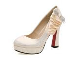 欧美时尚春季新品女鞋单鞋气质的性感粗高跟鞋OL职业浅口低帮鞋
