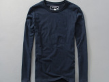 2015春季新款圆领打底长袖潮牌长t恤 t恤男装长袖男士长袖衫