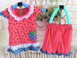 热卖夏季新款 韩版女童夏款裙装 婴儿装竹纤童裙套装厂家直销25