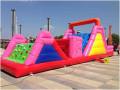 上海充气障碍城堡闵行儿童滑梯蹦床淘气堡出租大型充气水池