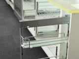 【供应直销】厨房拉篮 不锈钢阻尼侧拉 凯