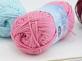 秋冬中细棉线手工编织宝宝线棒针围巾毛衣外