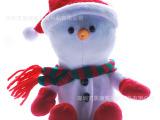 现货批发圣诞雪人公仔 小朋友较喜欢的圣诞礼物 电动雪人玩具