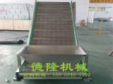 冲孔链板爬坡输送机 不锈钢爬坡机 食品水果传送机流水线