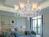欧式树脂铁艺吊灯新款珍珠白吊灯客厅过道酒店别墅吊灯