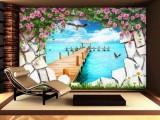 深圳3D壁纸壁画投影墙电视背景墙打印机厂家