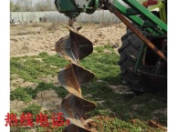 山东大棚埋桩机 拖拉机带动地钻打桩机