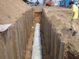 房山区拉森钢板桩施工主要河道打桩