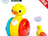 美斯乐-汇乐小黄鸭宝宝不倒翁玩具新生儿婴儿手摇铃 音乐益智玩具