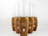 美國黑胡桃木設計創意異形時尚木制訂做定制田園風實木水晶花瓶