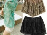 新款春装半身裙女装 性感蕾丝短裤韩版少女热裤薄款原单服饰代购
