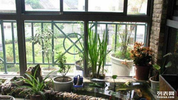 重庆家庭阳台鱼池假山
