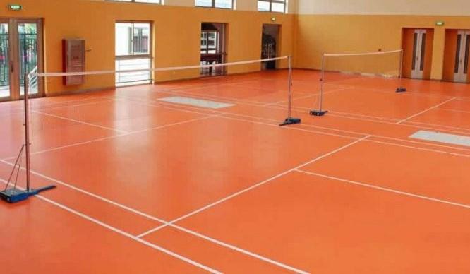 梅州专业承接环氧树脂地板梅州硅PU篮球场塑胶跑道羽毛球场地坪