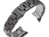 黑色陶瓷表带弧口22mm表带适配A玛尼陶瓷手表表带加工