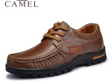 一手货源 专柜正品駱駝真皮鞋 商务休闲皮鞋 流行男鞋 头层牛皮鞋