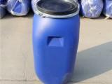 100升抱箍桶100公斤塑料桶法兰桶铁卡子方桶