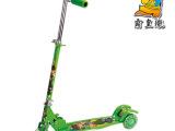全铁宽板三轮PVC激光滑板车 可折叠、可升降滑板车 运动健身车