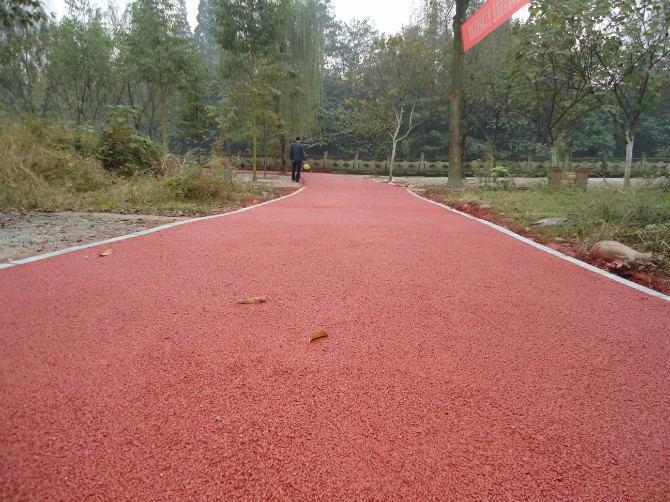 彩色透水路面 彩色透水混凝土 生态透水地坪强固胶凝剂低价批发