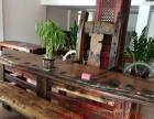 梅州实木家具办公桌茶桌椅子老船木客厅家具沙发茶几茶台餐桌案台